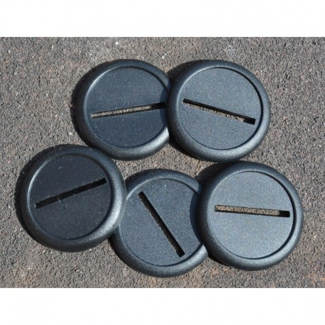 5 40mm Round and Lipped Bases