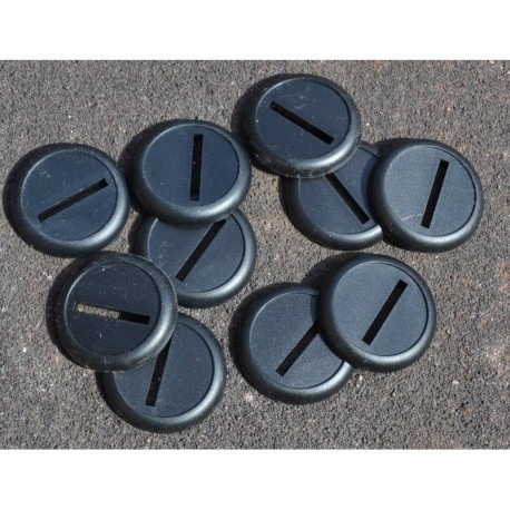10 30mm Round and Lipped Bases