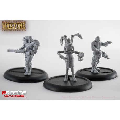 Mutant Chronicles RPG Models Cybertronic Set